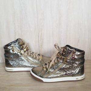 Michael Kors Shoes - Michael Kors Glam Studded High Top Sneaker 6.5